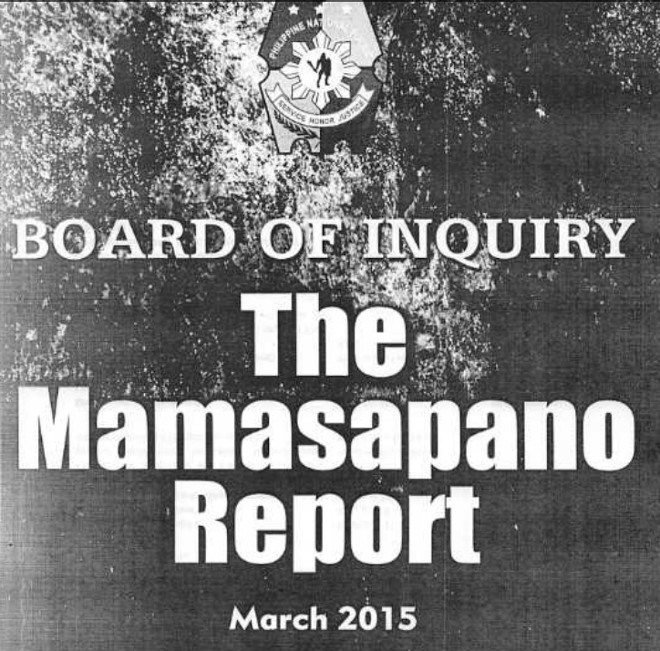 The Mamasapano Report